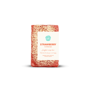 Strawberry Loofah Soap • Soul & More • Source Beauty Egypt