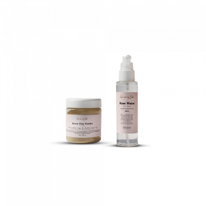 Pure Clay Mask Powder and Rose Water Mist Set • Source Beauty Egypt